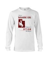 WYOMING GIRL LIVING IN UTAH WORLD Long Sleeve Tee thumbnail