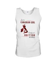 CANADIAN GIRL LIVING IN BRITISH WORLD Unisex Tank thumbnail