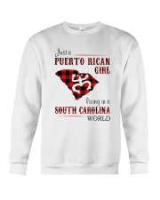 PUERTO RICAN GIRL LIVING IN SOUTH CAROLINA WORLD Crewneck Sweatshirt thumbnail