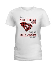 PUERTO RICAN GIRL LIVING IN SOUTH CAROLINA WORLD Ladies T-Shirt tile