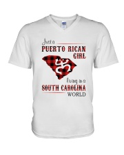 PUERTO RICAN GIRL LIVING IN SOUTH CAROLINA WORLD V-Neck T-Shirt thumbnail