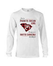 PUERTO RICAN GIRL LIVING IN SOUTH CAROLINA WORLD Long Sleeve Tee tile