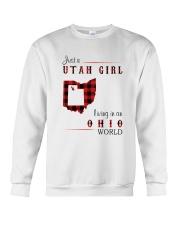 UTAH GIRL LIVING IN OHIO WORLD Crewneck Sweatshirt thumbnail