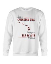 CANADIAN GIRL LIVING IN HAWAII WORLD Crewneck Sweatshirt thumbnail