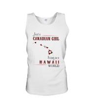 CANADIAN GIRL LIVING IN HAWAII WORLD Unisex Tank thumbnail