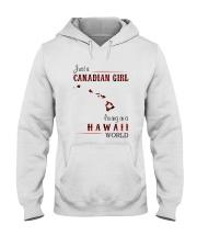 CANADIAN GIRL LIVING IN HAWAII WORLD Hooded Sweatshirt thumbnail