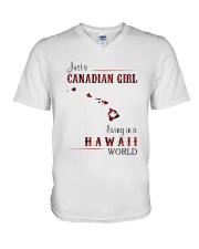 CANADIAN GIRL LIVING IN HAWAII WORLD V-Neck T-Shirt thumbnail