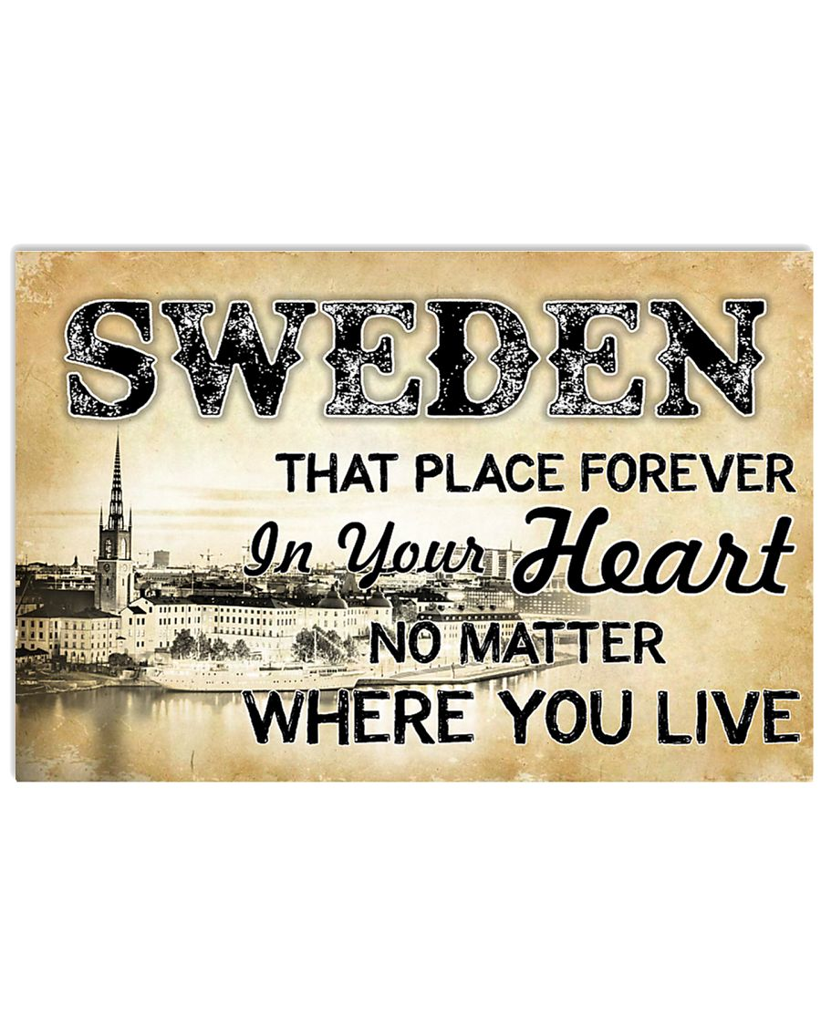 SWEDEN THAT PLACE FOREVER IN YOUR HEART 17x11 Poster