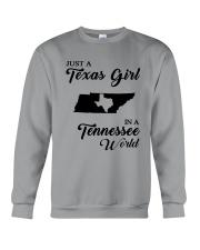 JUST A TEXAS GIRL IN A TENNESSEE WORLD Crewneck Sweatshirt thumbnail