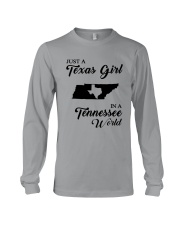 JUST A TEXAS GIRL IN A TENNESSEE WORLD Long Sleeve Tee thumbnail