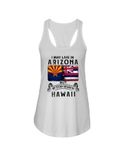 LIVE IN ARIZONA BEGAN IN HAWAII Ladies Flowy Tank thumbnail