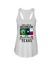 LIVE IN WASHINGTON BEGAN IN TEXAS Ladies Flowy Tank thumbnail