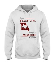 TEXAS GIRL LIVING IN MISSOURI WORLD Hooded Sweatshirt thumbnail