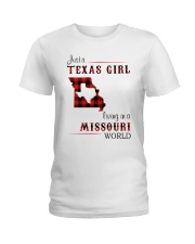 TEXAS GIRL LIVING IN MISSOURI WORLD Ladies T-Shirt thumbnail