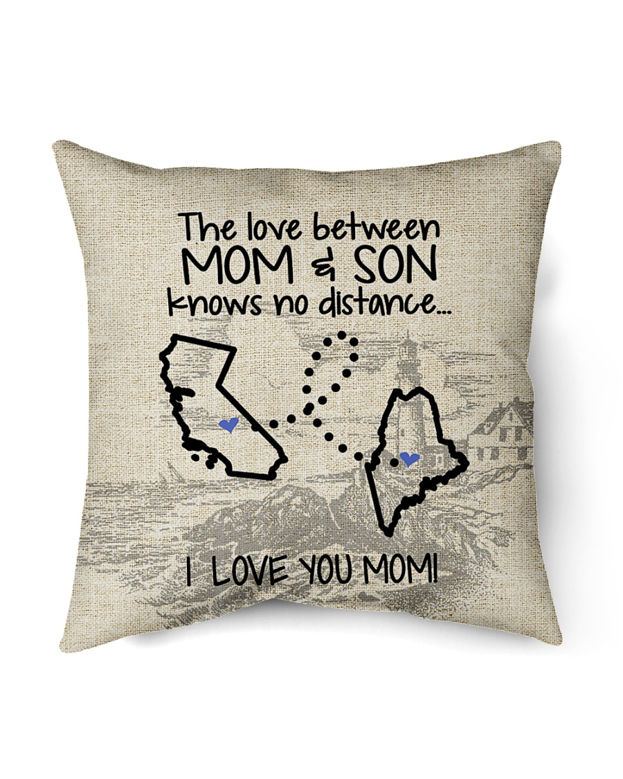 "MAINE CALIFORNIA THE LOVE MOM AND SON Indoor Pillow - 16"" x 16"""