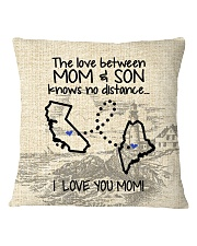 MAINE CALIFORNIA THE LOVE MOM AND SON Square Pillowcase thumbnail
