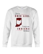 OHIO GIRL LIVING IN INDIANA WORLD Crewneck Sweatshirt thumbnail