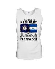 LIVE IN KENTUCKY BEGAN IN EL SALVADOR Unisex Tank thumbnail