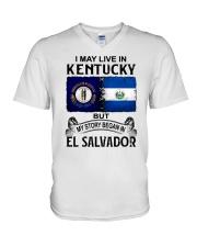 LIVE IN KENTUCKY BEGAN IN EL SALVADOR V-Neck T-Shirt thumbnail