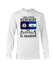 LIVE IN KENTUCKY BEGAN IN EL SALVADOR Long Sleeve Tee thumbnail