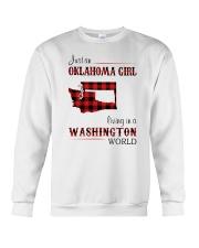 OKLAHOMA GIRL LIVING IN WASHINGTON WORLD Crewneck Sweatshirt thumbnail