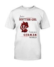 SCOTTISH GIRL LIVING IN GERMAN WORLD Classic T-Shirt front