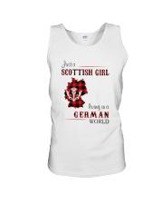 SCOTTISH GIRL LIVING IN GERMAN WORLD Unisex Tank thumbnail