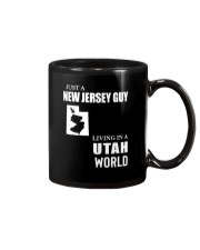 JUST A JERSEY GUY LIVING IN UTAH WORLD Mug thumbnail