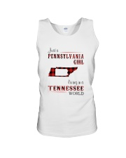 PENNSYLVANIA GIRL LIVING IN TENNESSEE WORLD Unisex Tank thumbnail