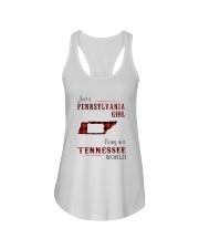 PENNSYLVANIA GIRL LIVING IN TENNESSEE WORLD Ladies Flowy Tank thumbnail
