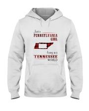 PENNSYLVANIA GIRL LIVING IN TENNESSEE WORLD Hooded Sweatshirt thumbnail