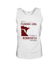 FLORIDA GIRL LIVING IN MINNESOTA WORLD Unisex Tank thumbnail