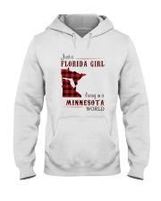 FLORIDA GIRL LIVING IN MINNESOTA WORLD Hooded Sweatshirt thumbnail