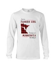 FLORIDA GIRL LIVING IN MINNESOTA WORLD Long Sleeve Tee thumbnail