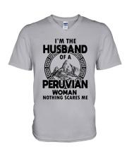 I'M THE HUSBAND OF A PERUVIAN WOMAN V-Neck T-Shirt thumbnail