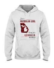 MICHIGAN GIRL LIVING IN GEORGIA WORLD Hooded Sweatshirt thumbnail