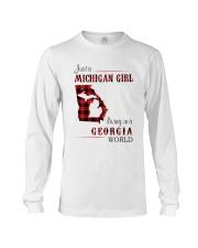 MICHIGAN GIRL LIVING IN GEORGIA WORLD Long Sleeve Tee thumbnail