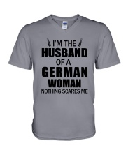 I'M THE HUSBAND OF A GERMAN WOMAN V-Neck T-Shirt thumbnail