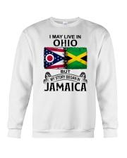 LIVE IN OHIO BEGAN IN JAMAICA Crewneck Sweatshirt thumbnail