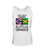 LIVE IN OHIO BEGAN IN JAMAICA Unisex Tank thumbnail