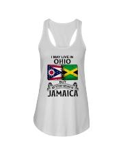 LIVE IN OHIO BEGAN IN JAMAICA Ladies Flowy Tank thumbnail