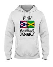 LIVE IN OHIO BEGAN IN JAMAICA Hooded Sweatshirt thumbnail