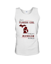 FLORIDA GIRL LIVING IN MICHIGAN WORLD Unisex Tank thumbnail