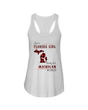 FLORIDA GIRL LIVING IN MICHIGAN WORLD Ladies Flowy Tank thumbnail