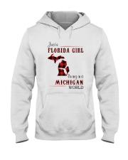 FLORIDA GIRL LIVING IN MICHIGAN WORLD Hooded Sweatshirt thumbnail