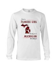 FLORIDA GIRL LIVING IN MICHIGAN WORLD Long Sleeve Tee thumbnail