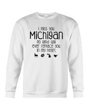 I MISS YOU MICHIGAN Crewneck Sweatshirt thumbnail
