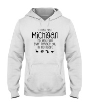 I MISS YOU MICHIGAN Hooded Sweatshirt thumbnail