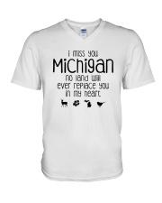 I MISS YOU MICHIGAN V-Neck T-Shirt thumbnail