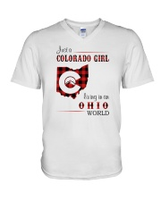 COLORADO GIRL LIVING IN OHIO WORLD V-Neck T-Shirt thumbnail